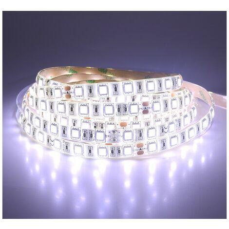 Ruban LED 14,4 Watts /m Blanc - Rouleau 5M 12V