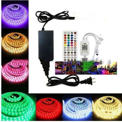 Ruban LED 20M Bande LED RGB Lumineuse 5050 APP Intelligent Synchronisation Musicale RGBIC Etanche Changement
