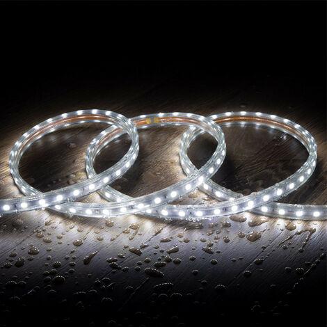 Ruban LED 220V AC 60 LED/m Blanc Froid