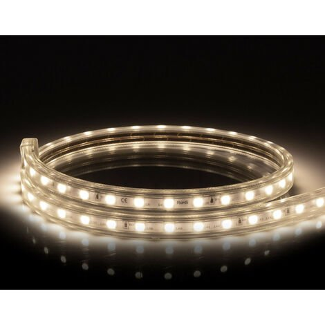 Ruban LED 220V AC 60 LED/m Blanc Neutre