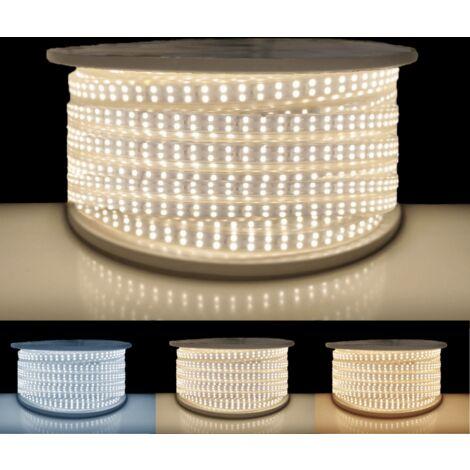 Ruban LED 220V Recoupable 50M Double Rangée IP65 2835 180LED/m