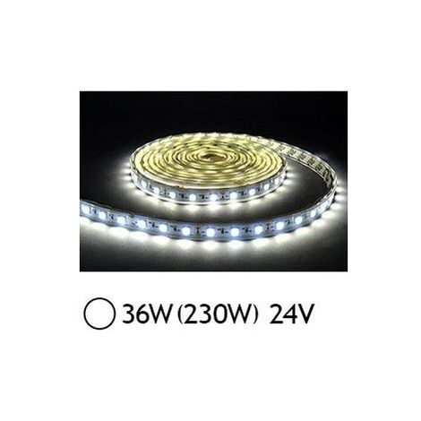 Ruban LED 7.2 Watts /m - Blanc - Rouleau 5M 24V
