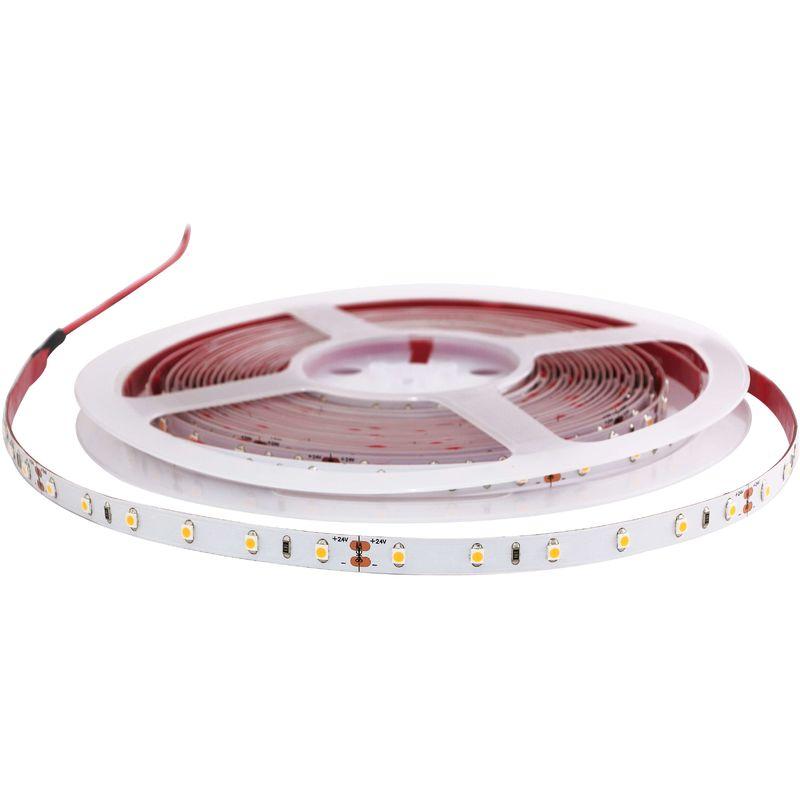Ruban Led Pour Eclairage Principal ruban led blanc 24v 60 led/m étanche 4,8w/m 5m