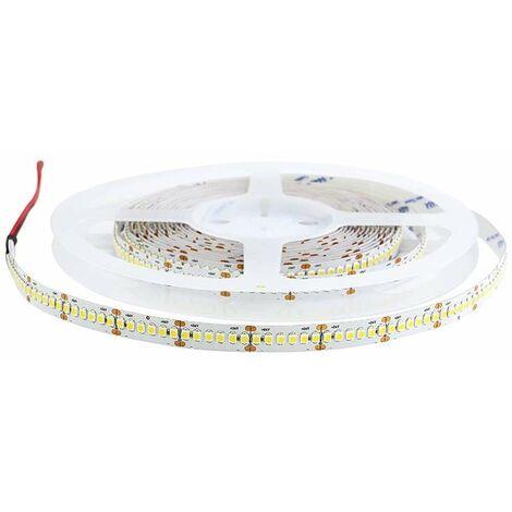 Ruban LED Blanc 24V haute luminosité 120 LED/m étanche 20W/m 5m - Blanc Chaud 3000K