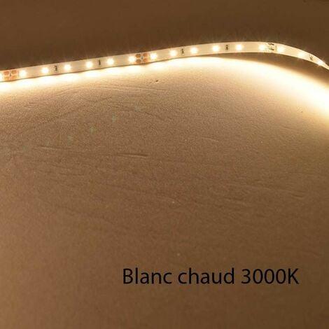 Ruban LED Blanc 60 LED/m 4,8W/m IP20 10m - Blanc Chaud 3000K