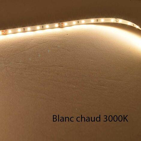 Ruban LED Blanc 60 LED/m 4,8W/m IP20 1m - Blanc Chaud 3000K