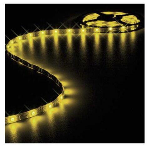 Ruban LED Blanc Chaud 12V 10mm x 5m adhésif 150 LEDS IP61