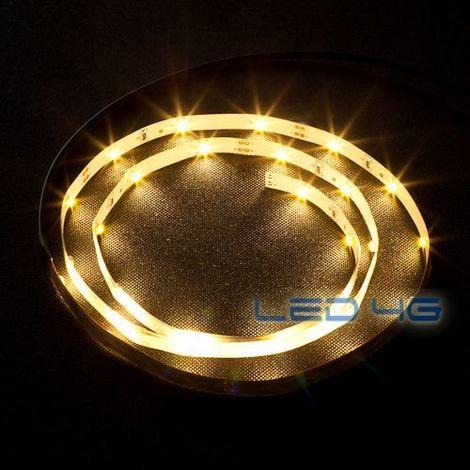 Ruban LED blanc chaud pour l'intérieur 1M ou 5M (Longueur : 5 Mètres)