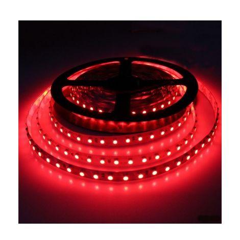ruban led rouge 3528 60 smd/m etanche 5m/ rouleau - st4734