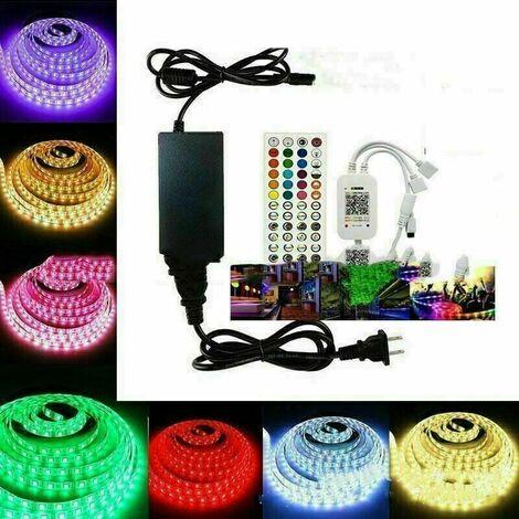 Ruban LED Bleutooth,20M Bande LED 600 LEDs 5050 RGB Étanche,Contrôlé par APP du Smartphone