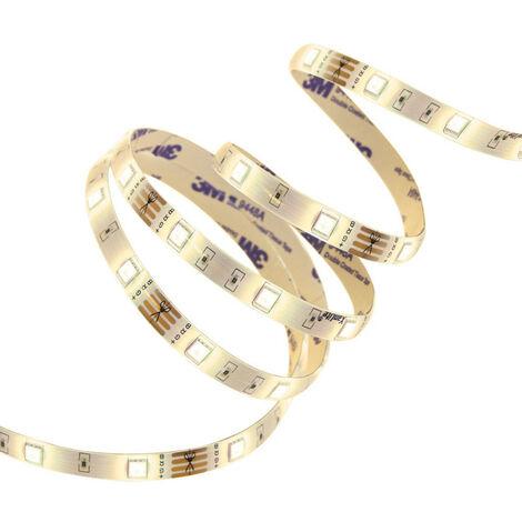 Ruban LED (kit complet) - 5m - Blanc chaud, 1000 lumens   Xanlite