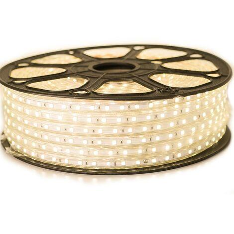 Ruban LED Professionnel 5050 60 LED/m de 25 ou 50 mètres blanc chaud étanche (IP68)