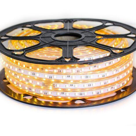 Ruban LED Professionnel 5050 60 LED/m de 25 ou 50 mètres Or étanche (IP68)