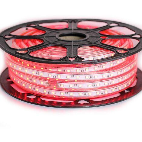 Ruban LED Professionnel 5050 60 LED/m de 25 ou 50 mètres Rouge étanche (IP68)
