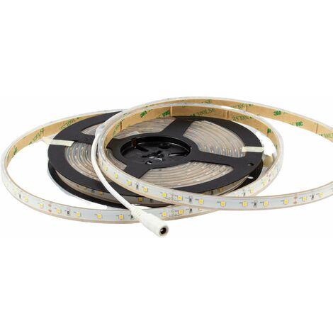 Ruban LED Puissant 60 LED/m 13W/m IP68 5m - Blanc Chaud 3000K