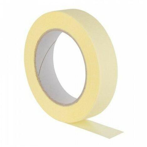 Ruban papier peinture jaune 19mm / 50m papier