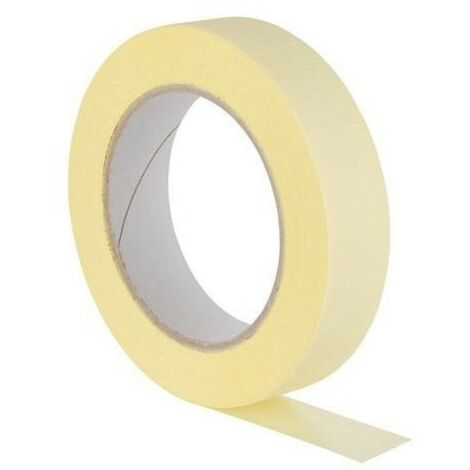 Ruban papier peinture jaune 25mm / 50m