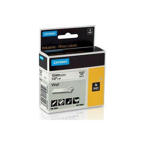 Ruban vinyle continu pour étiqueteuse Rhino 4200, largeur 19 mm, longueur 5,5 m, noir sur blanc