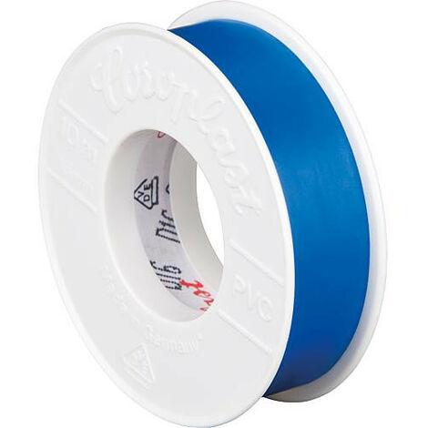 Rubant isolant pour l'electricite bleu largeur 15 mm longueur 10 metres