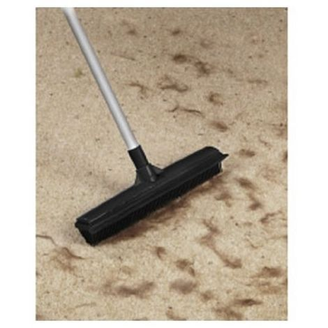 Rubber Broom - Brush With Extending Handle Ideal for Pet Hair / Laminated Floors