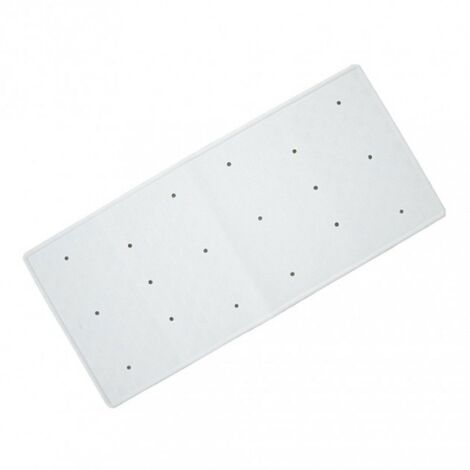 Rubber Extra Long Bath Mat - White 370mm x 900mm