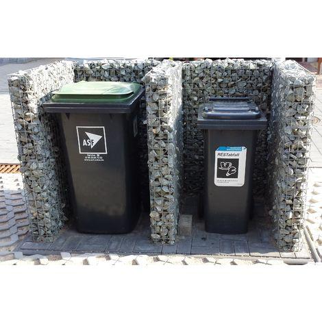 Rubbish bin stall base unit