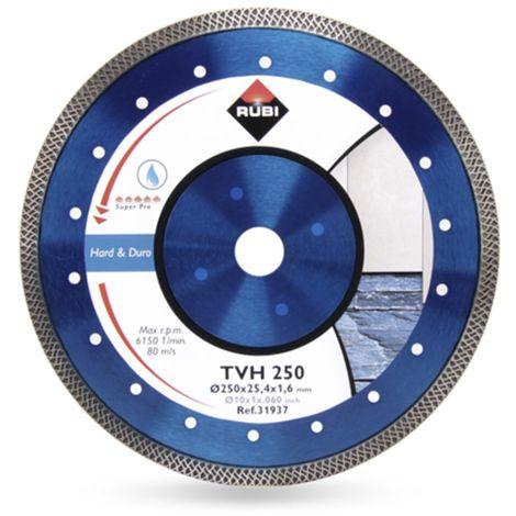 Rubi 31937 Lame de scie diamantée pour la coupe à l'eau - 250 x 25,4 mm - Carreaux / Pierre