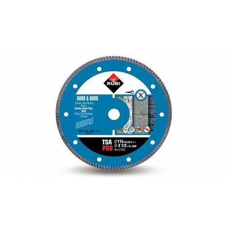 RUBI 31952 TSA-115 PRO Disco Diamante Para Material Duro
