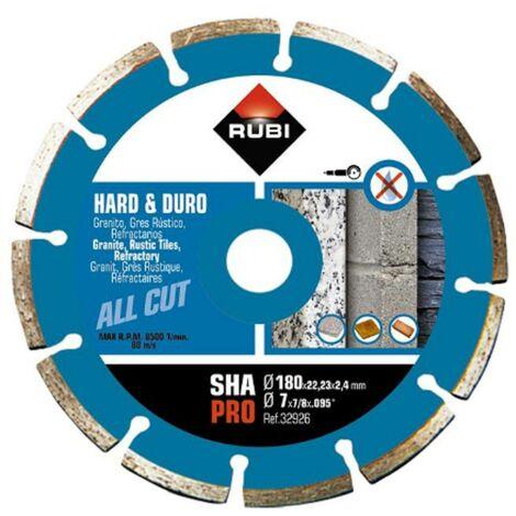 RUBI 32926 SHA-180 SUPERPRO Disco Diamante Segmentado Material Duro