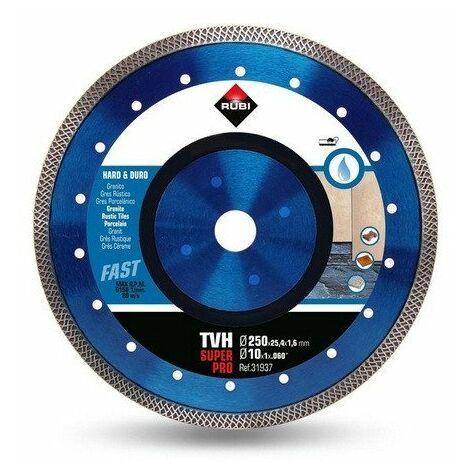 Rubi - Disque diamant pour matériaux durs 250x25,4x1,6mm - TURBO VIPER TVH-250 SUPERPRO - TNT