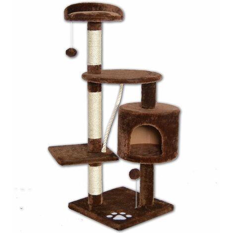 Rubik - Tiragraffi per gatti gioco albero parco giochi tira graffi per gatto da 112 cm
