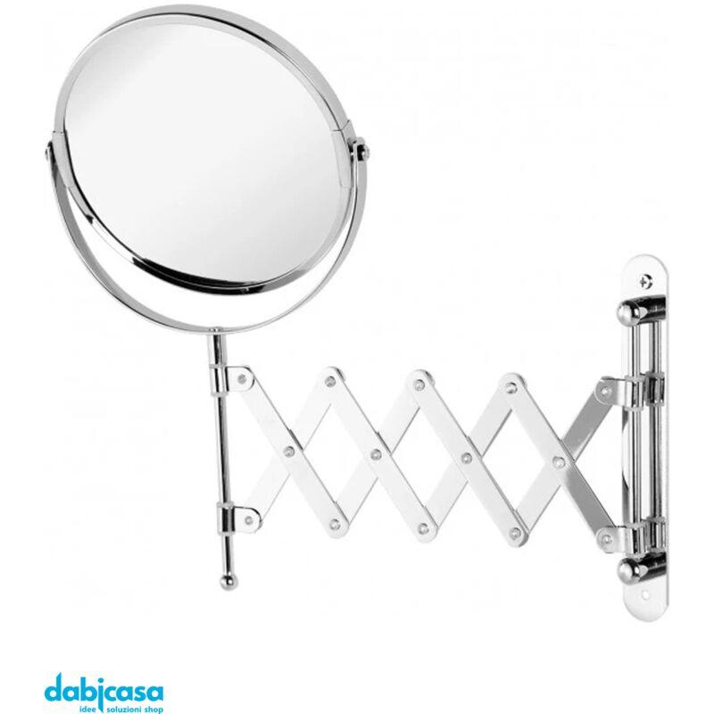Specchio Ingranditore Da Muro Doppio Specchio 1X 3X Diam.15Cm