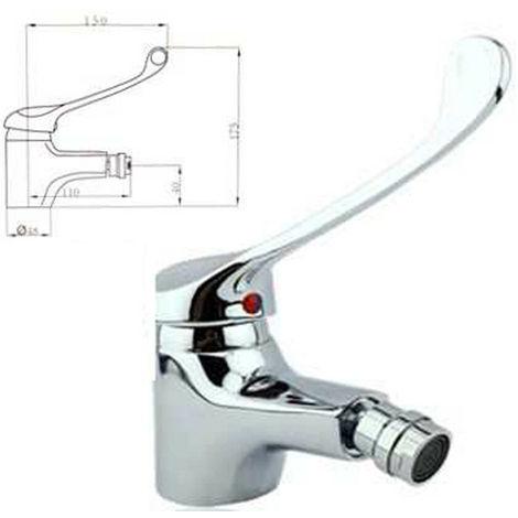 Rubinetto miscelatore moderno per lavabo Basics finitura cromata lucida