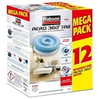 RUBSON PROMO MEGA PACK LOT DE 12 RECHARGE AERO 360 RUB3178041320665