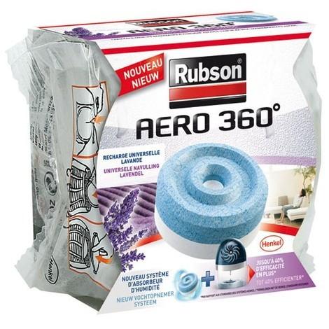 RUBSON - Recharge absorbeur d'humidité Aéro 360 - lavande