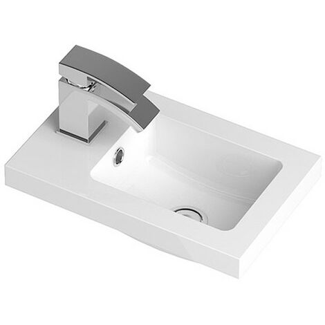Ruby 400mm Polymarble Side Tap Basin - 1 Tap Hole