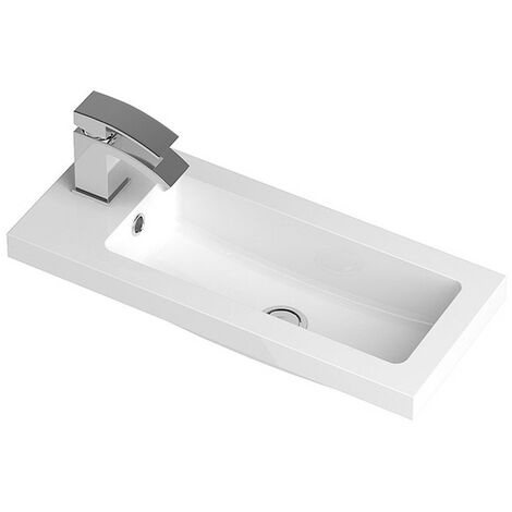 Ruby 600mm Polymarble Side Tap Basin - 1 Tap Hole