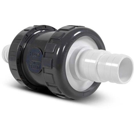 Rückschlagventil d 38 + 32 mm Schlauch, PVC