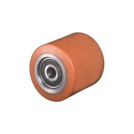 Rueda 85mm 2 Poli/ Acero LG.K