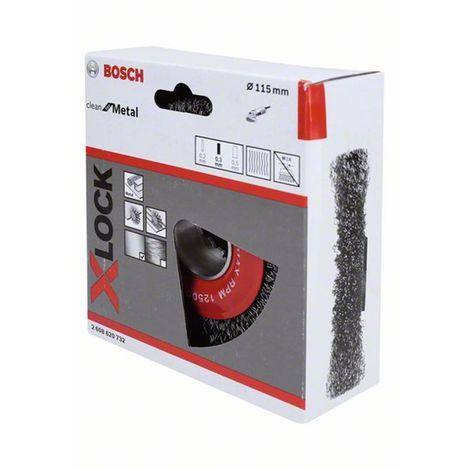 Rueda de alambre X-LOCK, ondulado, acero 115 115 mm, 0,3 mm, X-LOCK BOSCH