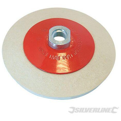 Rueda de fieltro biselada para pulido (115 mm)