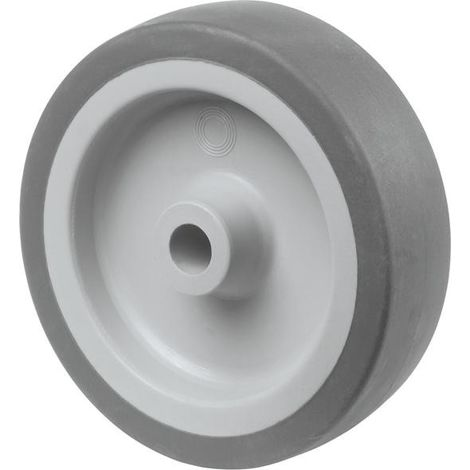 Rueda de goma de 100mm rodamiento deslizante gris
