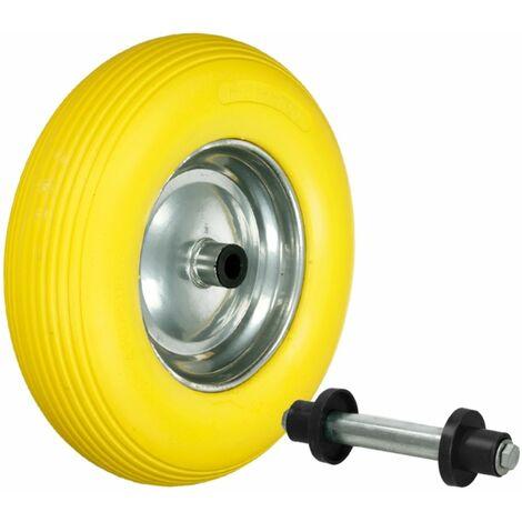 """Rueda de repuesto caretilla goma 15"""" PU caucho de neumático 4.80/4.00-8 390 mm"""