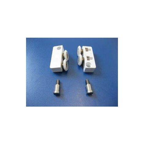 Rueda doble para puerta corredera de ducha samo RIC350 | Grupo deslizante