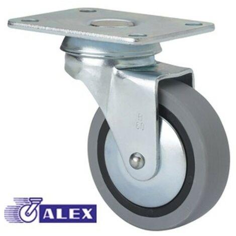 Rueda fija 1-0217 50ømm 22kg goma ALEX