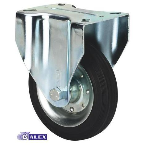 Rueda fija 2-0226 100ømm 110kg goma ALEX