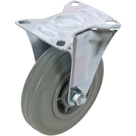 Rueda fija de goma 125 mm, 100 kg - NEOFERR