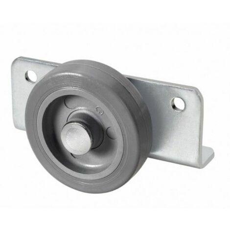 Rueda fija soporte 050mm 1-0775 angular 060kg goma gr 63n50-