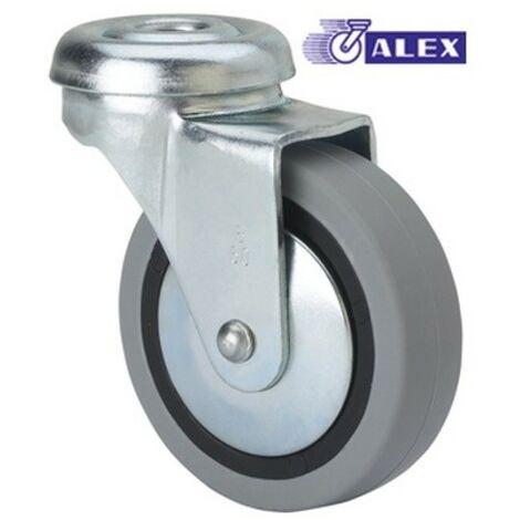 Rueda gir 040mm 1-0014 ag/pas 017kg.liso gom n/g bd pgi alex