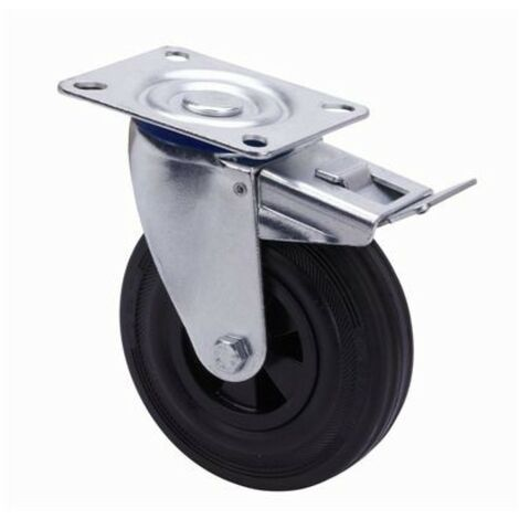 Rueda gir c/f 125mm tw0265 pl. 110kg goma ne alex